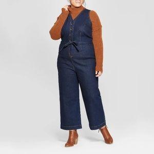 Pants - New Plus Size Button Front Denim Jumpsuit 14 1x